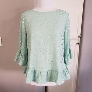 W5 Ruffle Sleeve Top